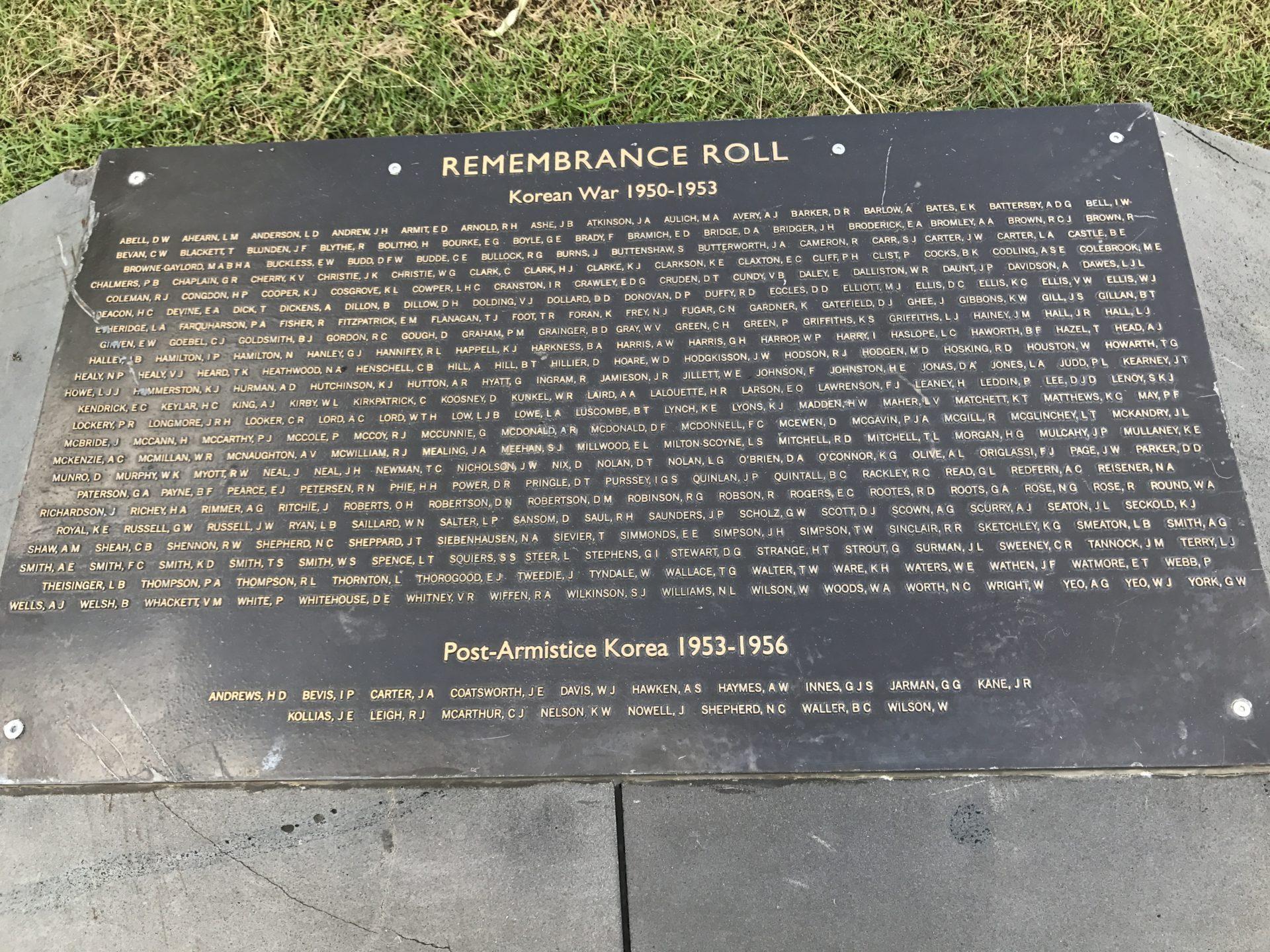 Korean War Memorials - Sydney - Australia