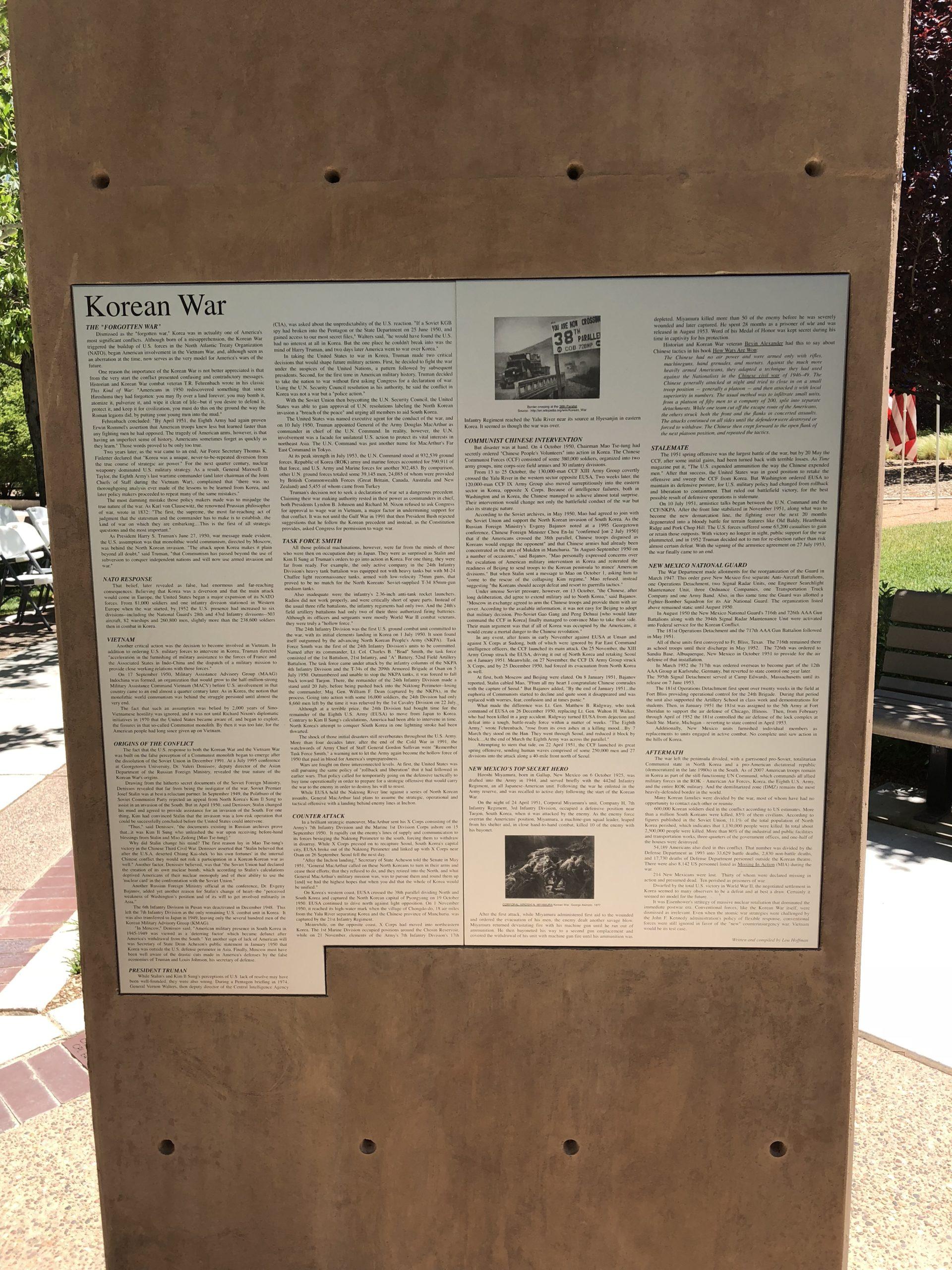 Korean War Memorials - Albuquerque