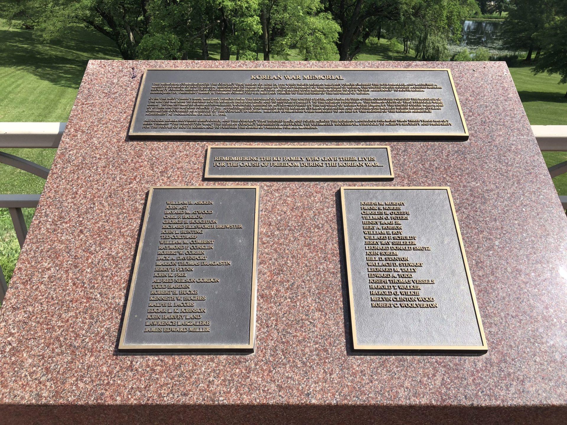 Korean War Memorials - Lawrence