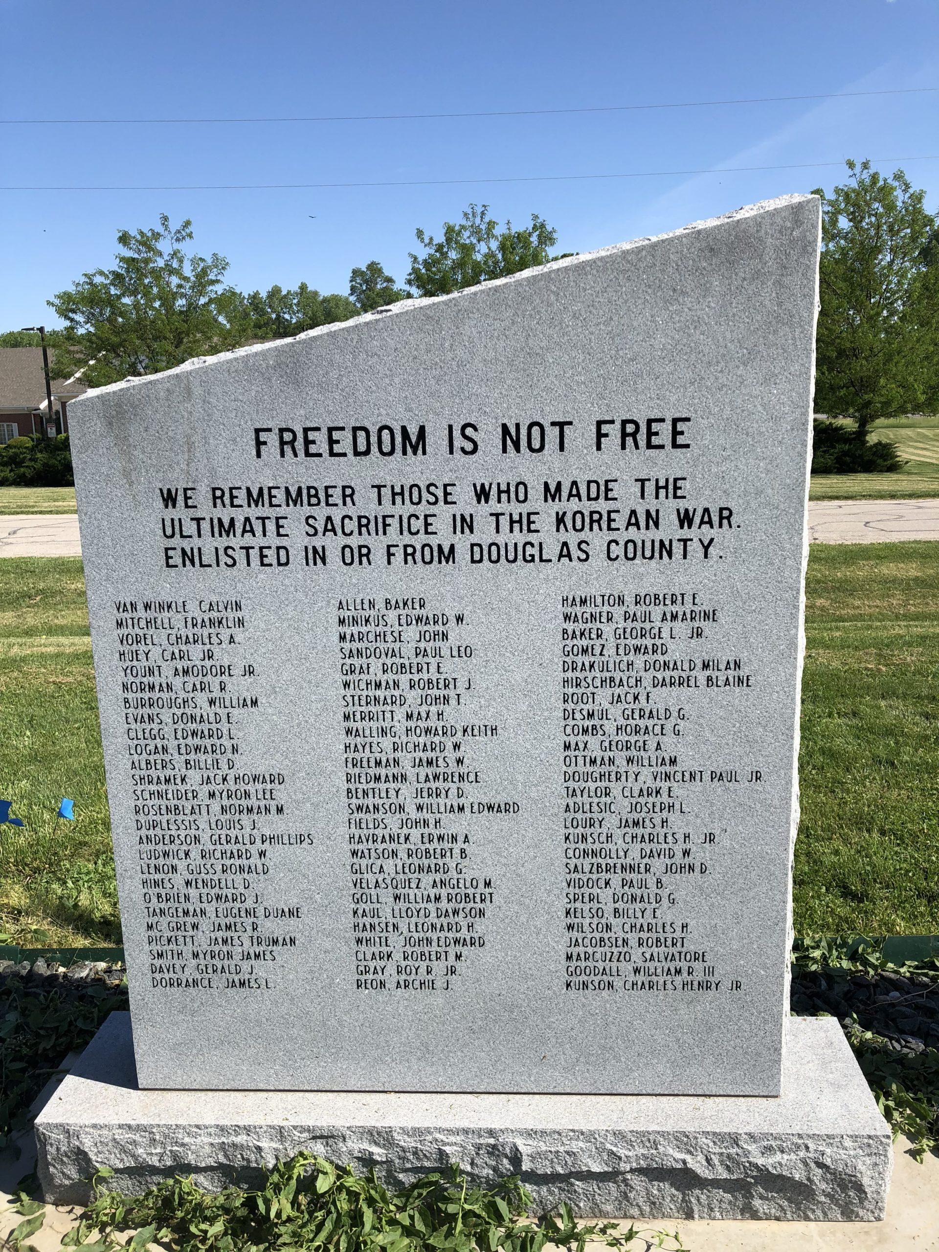 Korean War Memorials - Omaha