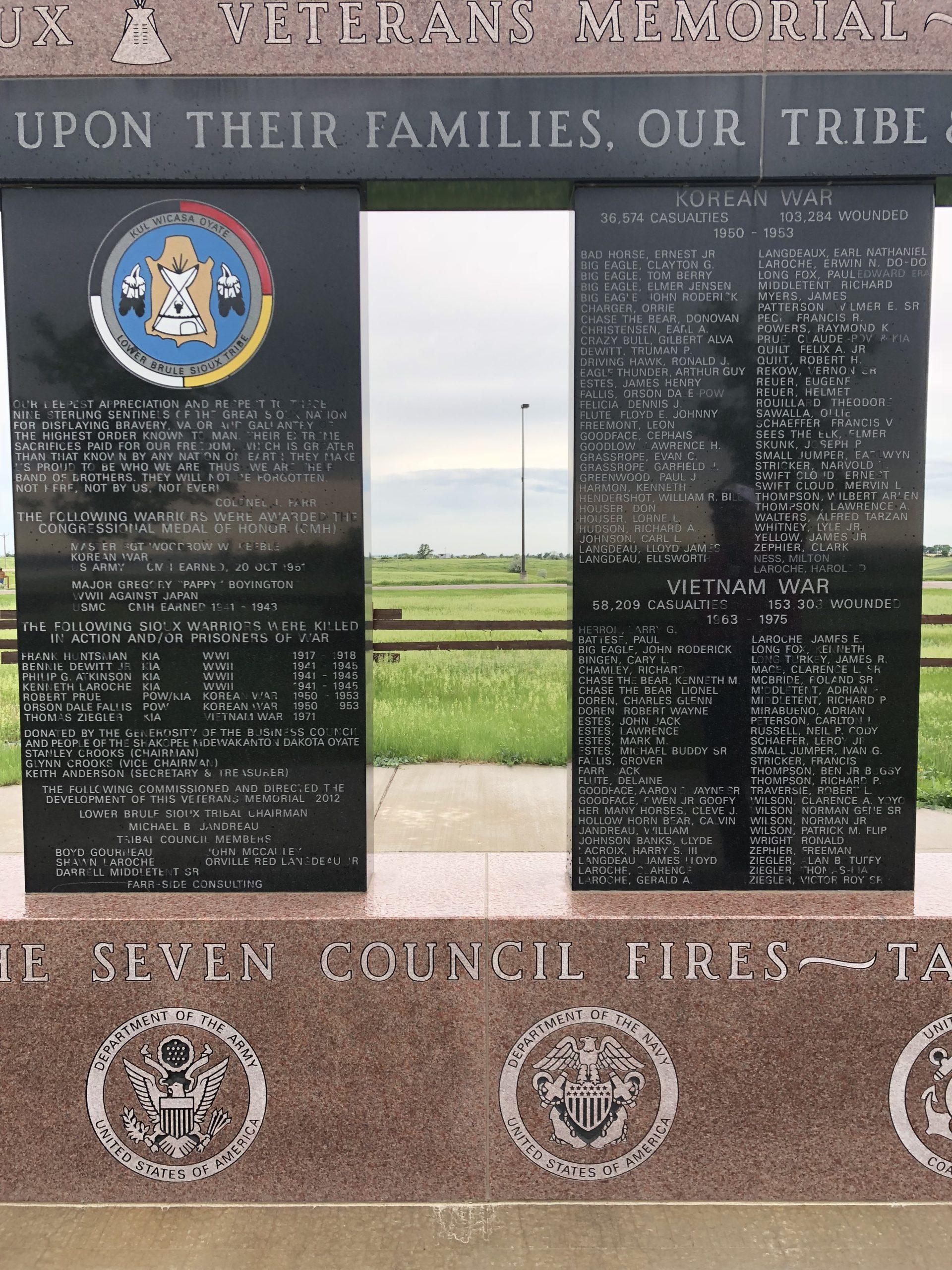 Korean War Memorials - Lower Brule
