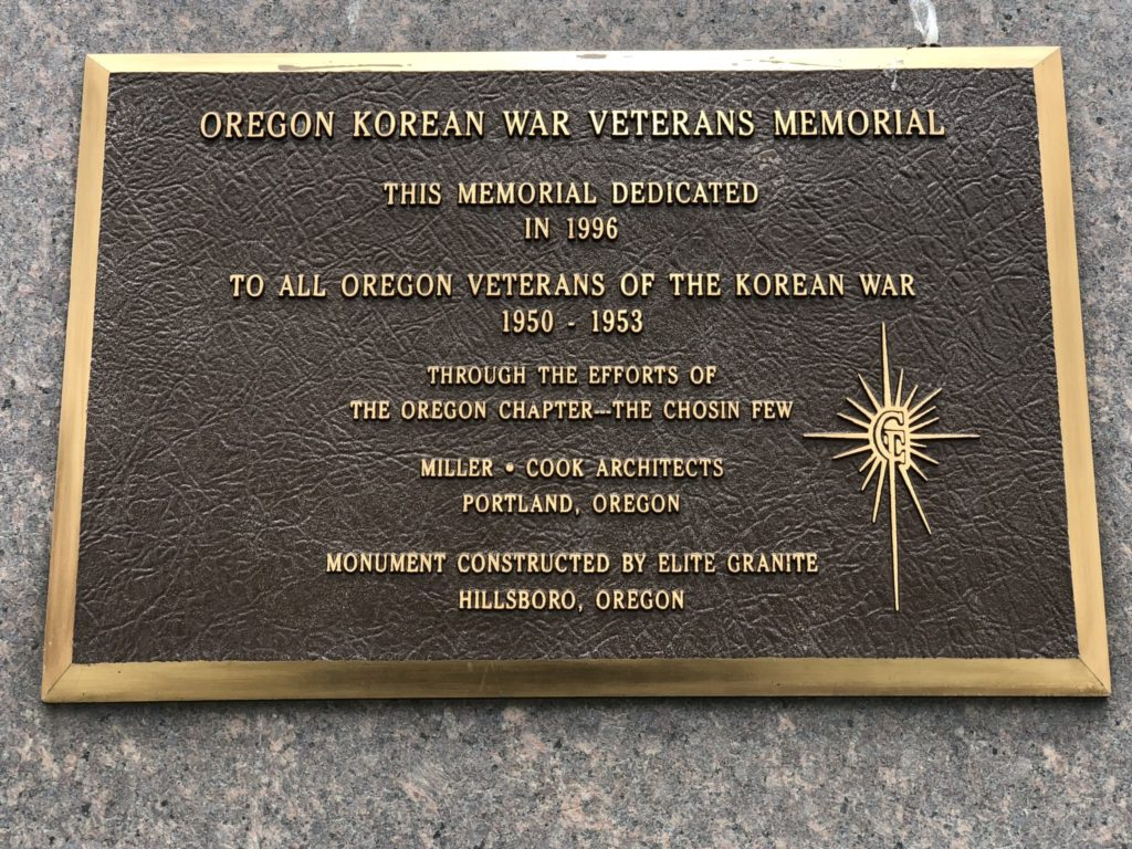Korean War Memorials - Portland