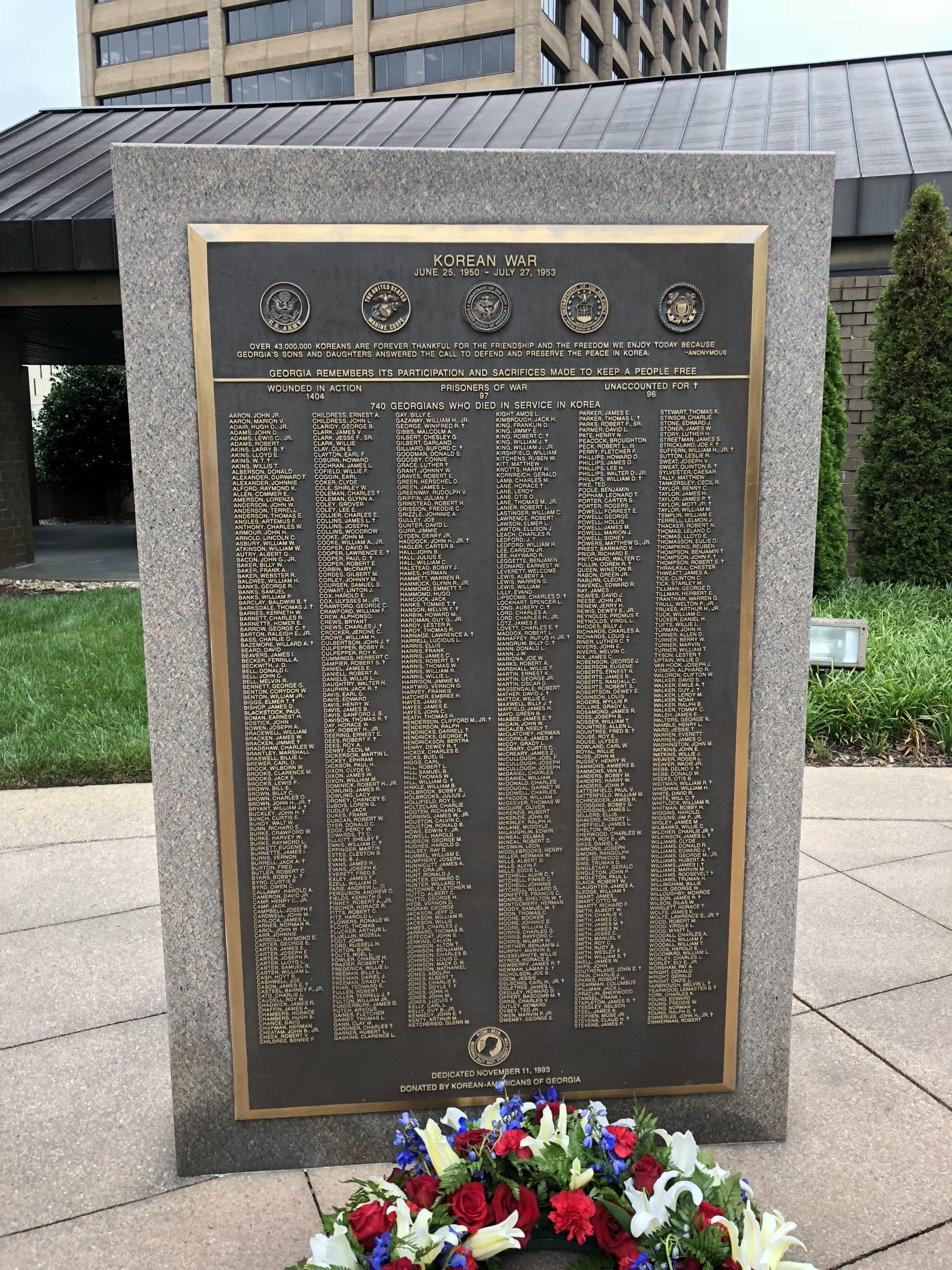 Korean War Memorials - Atlanta