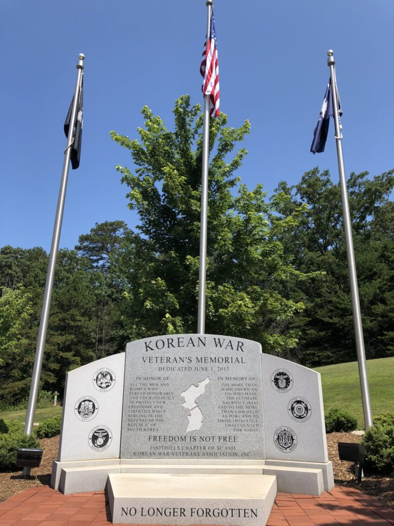 Korean War Memorials - Greenville