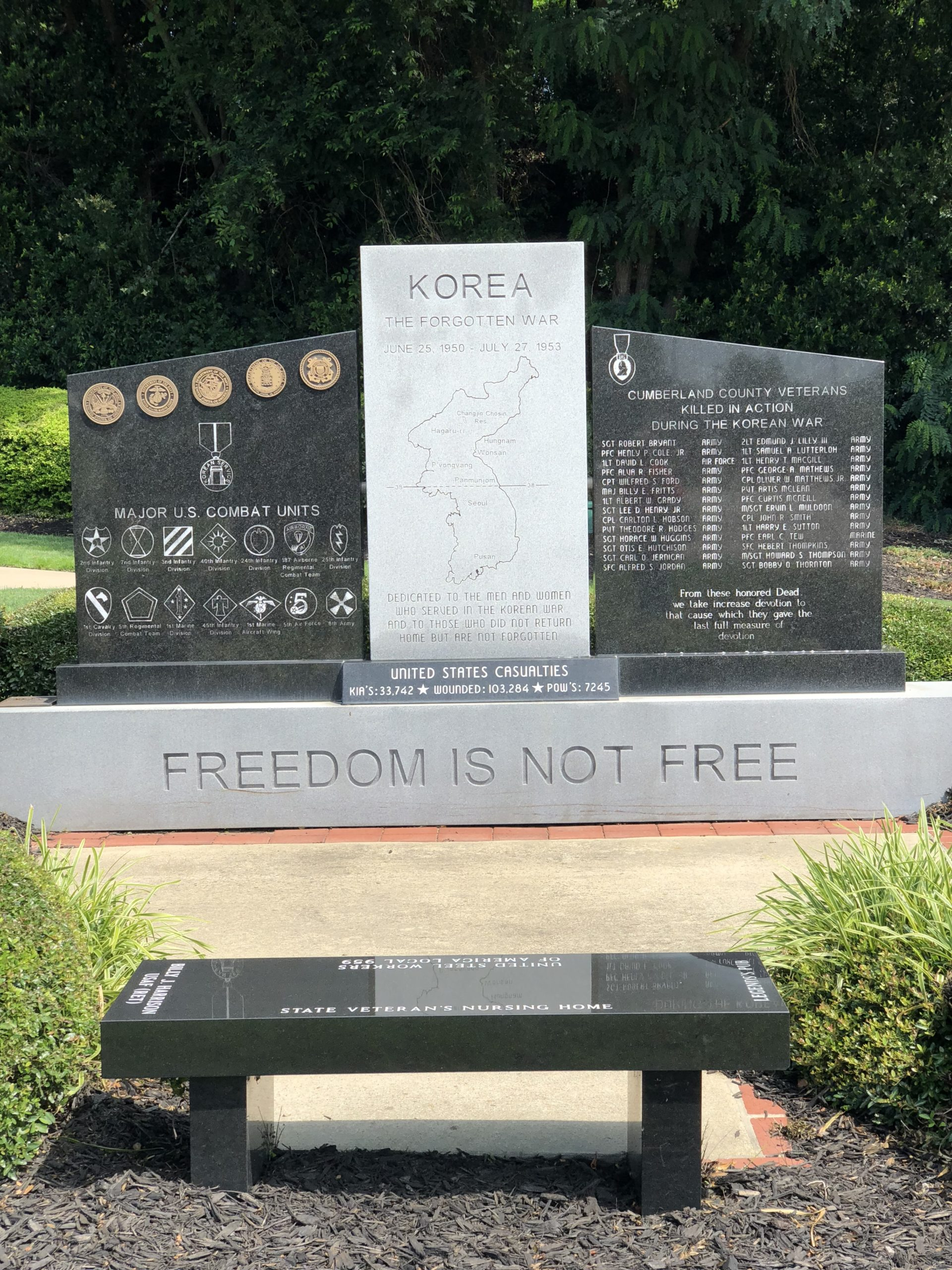 Korean War Memorials - Fayetteville