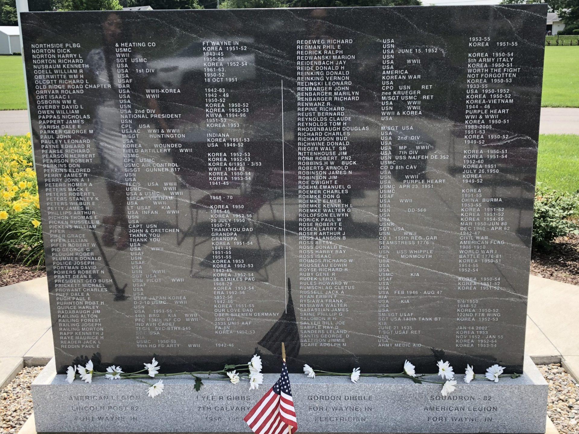 Korean War Memorials - Fort Wayne