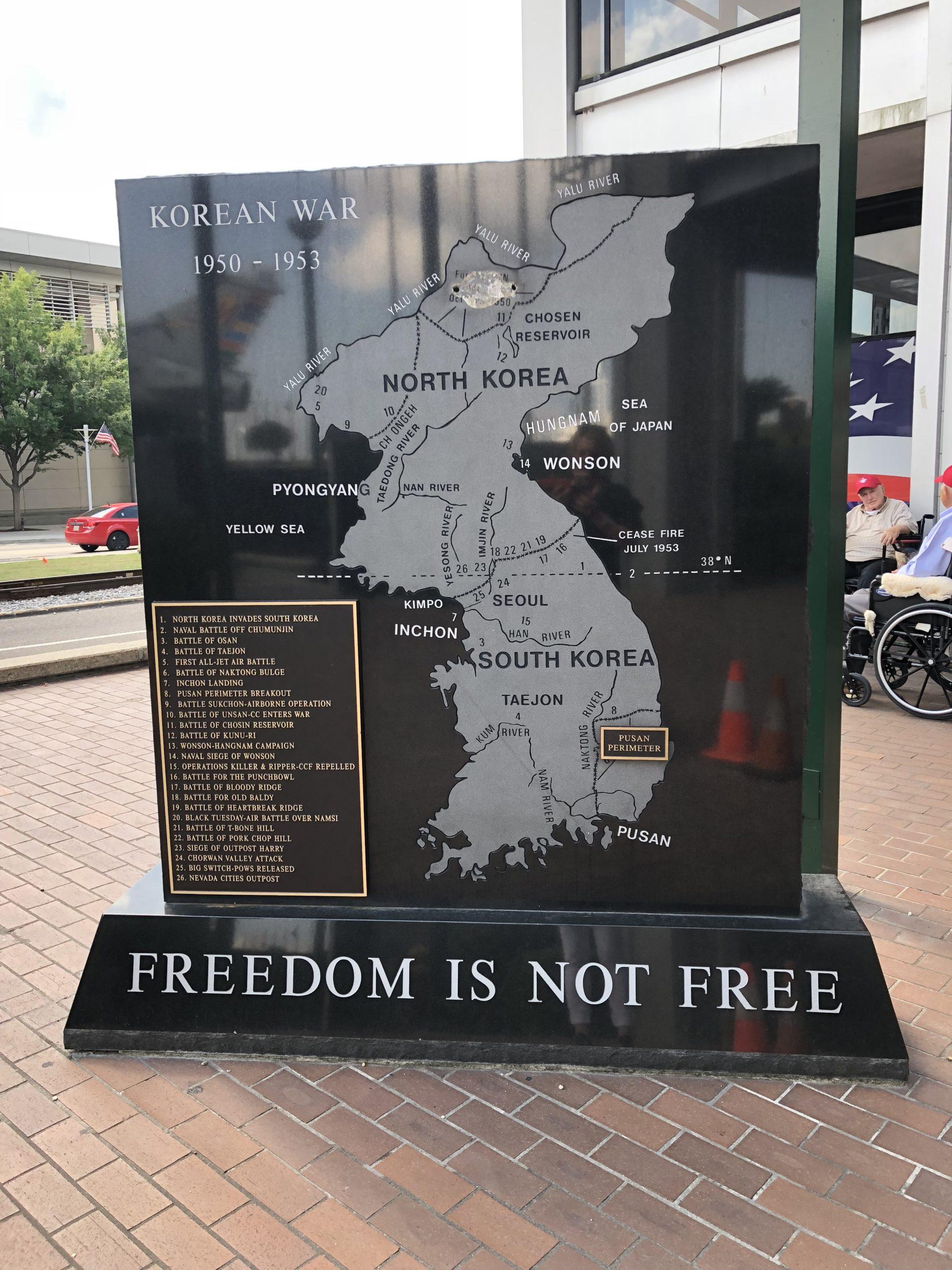 Korean War Memorials - Baton Rouge